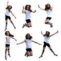Jumping girl collage