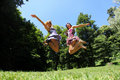 Jumping girls Royalty Free Stock Photo