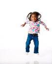 Jumping For Joy Stock Images