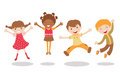 Jumping kids Stock Photo