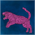 Jumping panther,pink color