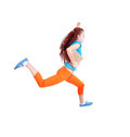 Jumping or running teenage girl with books Royalty Free Stock Image