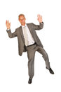 Jumping senior business man Royalty Free Stock Photo