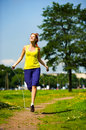 Jumping with skipping rope Royalty Free Stock Photography