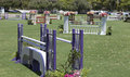 Jumps at the jumper field del mar ca sit ready for horses in thedel horse show Stock Image