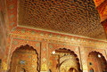 Junagarh fort wall paintings bikaner s in rajasthan depicts rich and ancient decoration Royalty Free Stock Images