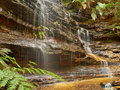 Junction falls a waterfall located in lawson blue mountain area new south wales australia Stock Photography