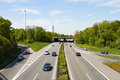 Junction in the ruhr area on a sunny day Royalty Free Stock Image