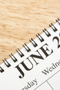 June on calendar. Royalty Free Stock Image