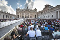 June ecclesial congress of the diocese of rome francis pope in st peters square in vatican city in italy Stock Image