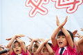 June international children s day nursery held a party this is the kids dance baixiang county hebei province china may Royalty Free Stock Images