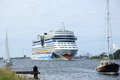 June nd velsen the netherlands aida stella on north s sea canal it way to amsterdam cruise terminal Stock Image