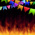June Party Elements Royalty Free Stock Photo