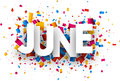 June sign. Royalty Free Stock Photo