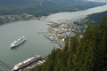 Juneau alaska usa an image from a lookout looking down into Royalty Free Stock Images