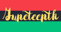 Juneteenth Banner With Flag