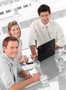 Junges multi Culutre Geschäfts-Team Lizenzfreie Stockfotos