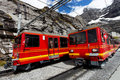 Jungfrau Bahn in Eiger Gletscher Railwaystation Royalty Free Stock Photography