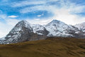 Jungfraujoch part of swiss alps alpine snow mountain landscape at switzerland Royalty Free Stock Images