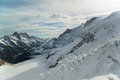 Jungfraujoch part of swiss alps alpine snow mountain landscape at switzerland Stock Images