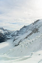 Jungfraujoch part of swiss alps alpine snow mountain landscape at switzerland Stock Photo