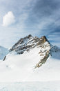 Jungfraujoch part of swiss alps alpine snow mountain landscape at switzerland Stock Photography