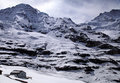 Jungfraujoch top of europe is the high point in swiss alps the highest railway station in europe is located meters above sea level Royalty Free Stock Image