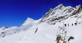 Jungfraujoch top of europe switzerland Royalty Free Stock Images