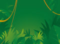 Jungle background with copyspace cartoon illustration of a Royalty Free Stock Photos