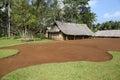 Jungle bungalow traditional in vanuatu Royalty Free Stock Images
