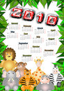 Jungle calendar 2010 Royalty Free Stock Photo