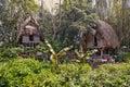 Jungle huts Royalty Free Stock Photo