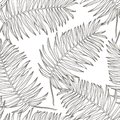 Jungle leaves seamless vector floral pattern background. Tropical palm leaves background. Vector illustration in trendy