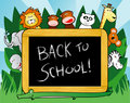 Jungle school background Royalty Free Stock Photos