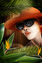 Jungle woman Royalty Free Stock Images