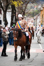 Juni parade in brasov celebration of city days and horseman on Royalty Free Stock Photo
