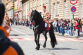 Juni parade brasov celebration of city days and horseman on Stock Photo