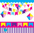 Junina party colorful and cheerful background Stock Image