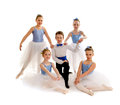 Junior ballet dance group a team of dancers in recital costume Royalty Free Stock Image