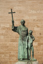 Junipero serra statue of the missionary california missionary in mallorca spain Stock Photos