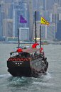 Junk boat in Hong Kong Stock Images