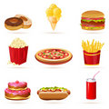 Junk food icons Royalty Free Stock Photos