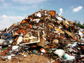 Junk mountain of various object Royalty Free Stock Photo