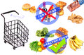 Junk vs healthy food Royalty Free Stock Photo