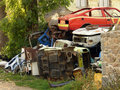 Junk yard Stock Image