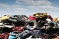 Junk yard with Royalty Free Stock Photography