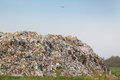 Junk yard hill of diverse domestic garbage in landfill Stock Photo