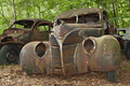 Junkyard car Stock Images