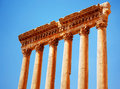 Jupiter's temple over blue sky, Baalbek, Lebanon Stock Photos