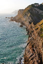 The jurasic coast showing rock strata near west lulworth purbeck dorset jurassic jurassic is a world heritage site on south Royalty Free Stock Photos